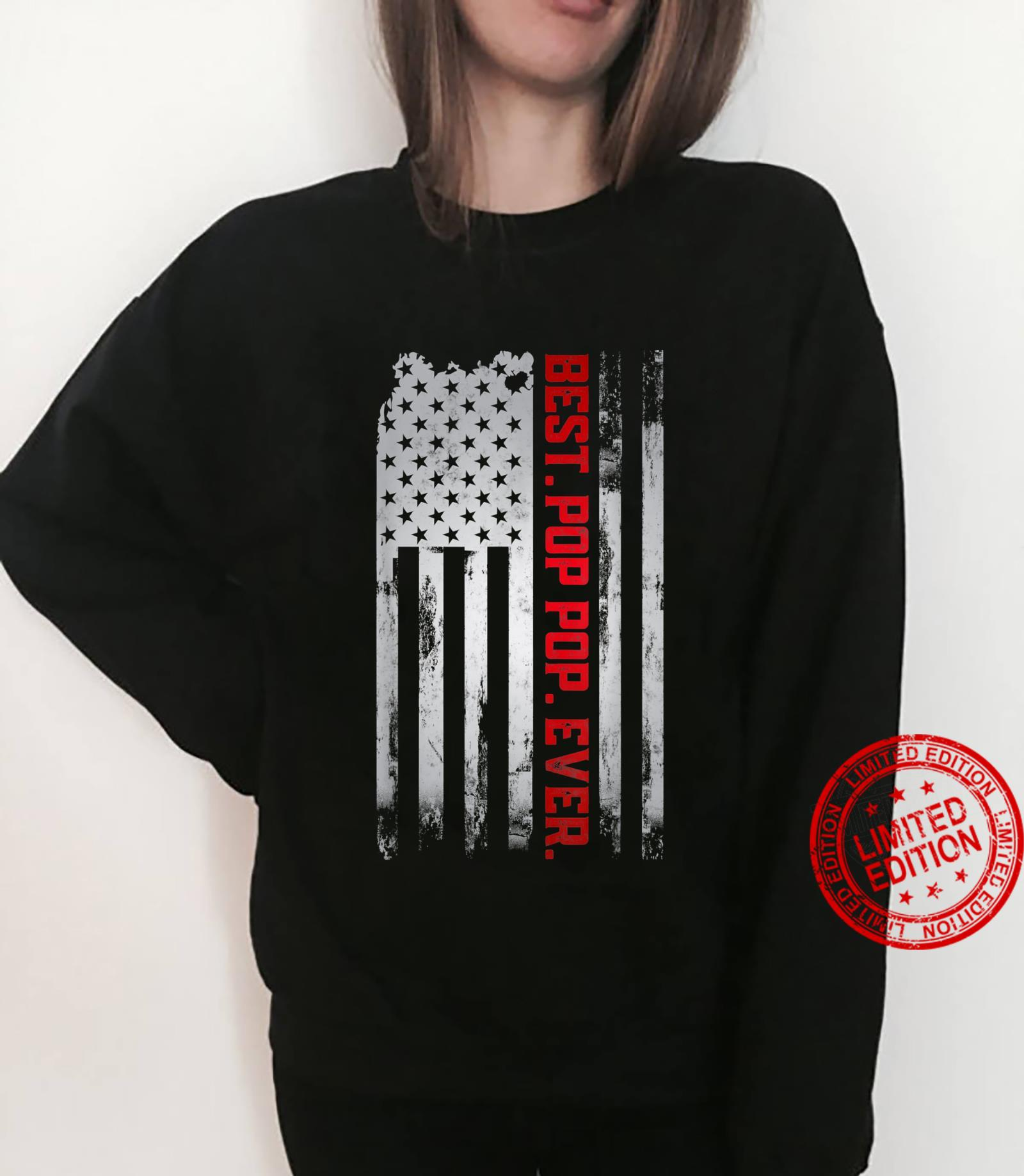 Best Pop pop Ever American USA flag Father's Day Gpa Shirt sweater