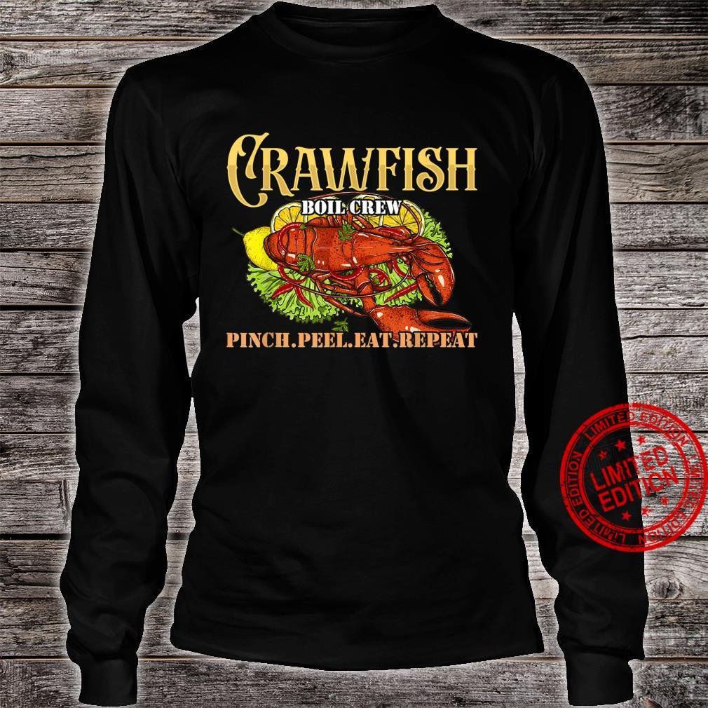 Crawfish Boil Crew Cajun Crayfish Shellfish Crawdad Shirt long sleeved