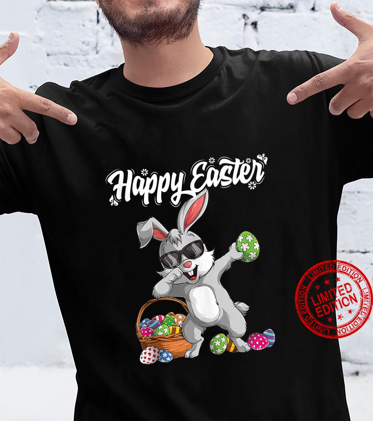 Dabbing Rabbit Easter Day Eggs Dab Boys Girls Kid bunny Shirt