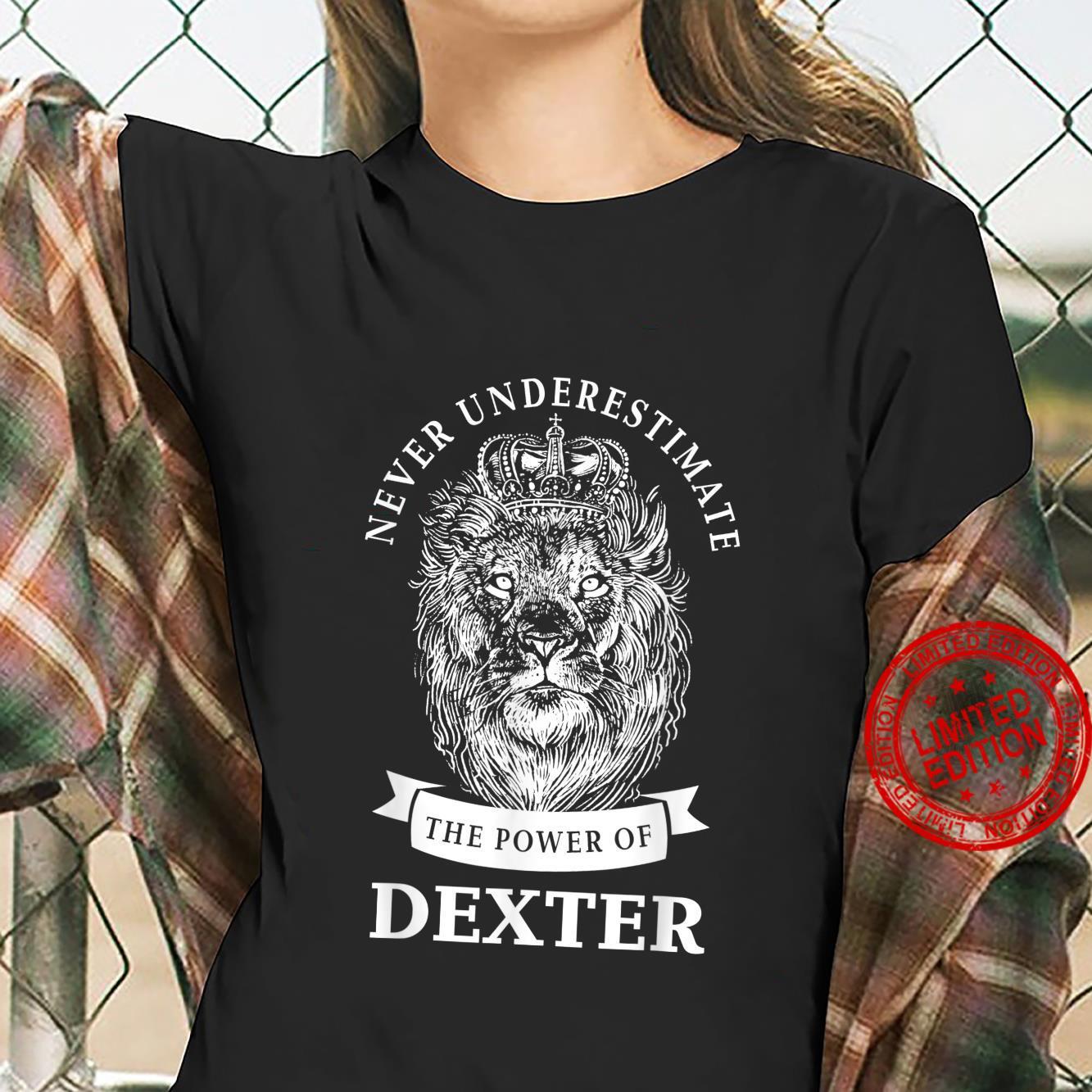 Dexter Name Lion Shirt ladies tee