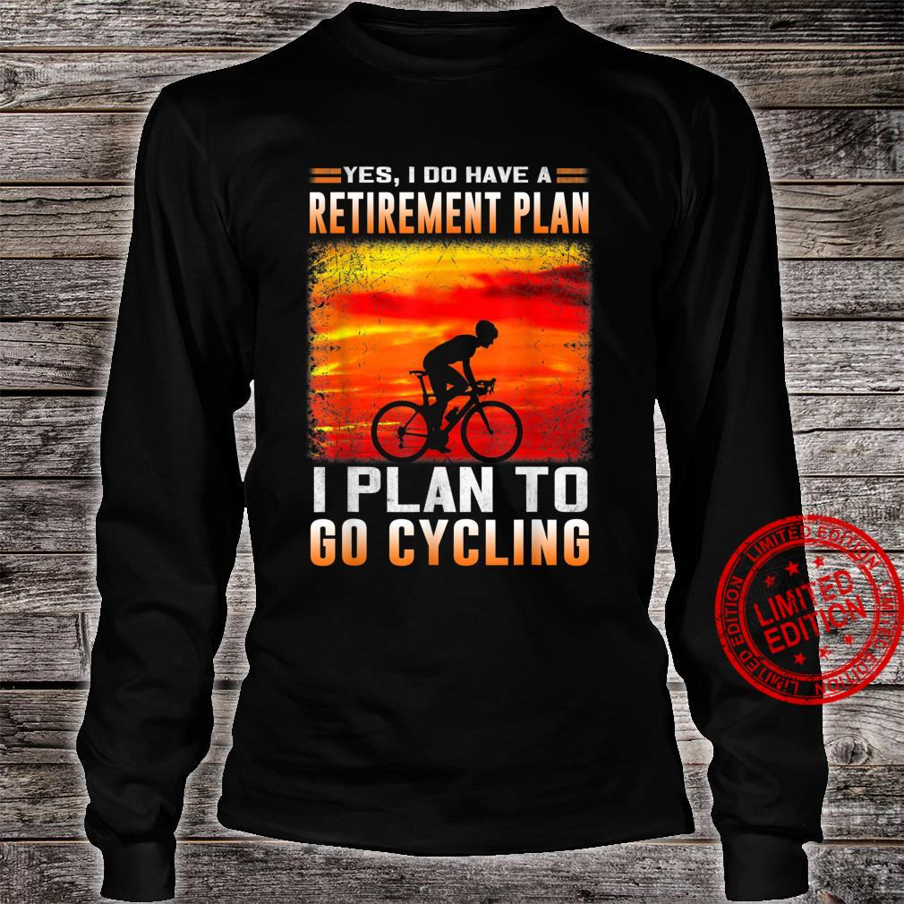 Funny Retirement Plan Cycling Bicycle Shirt long sleeved