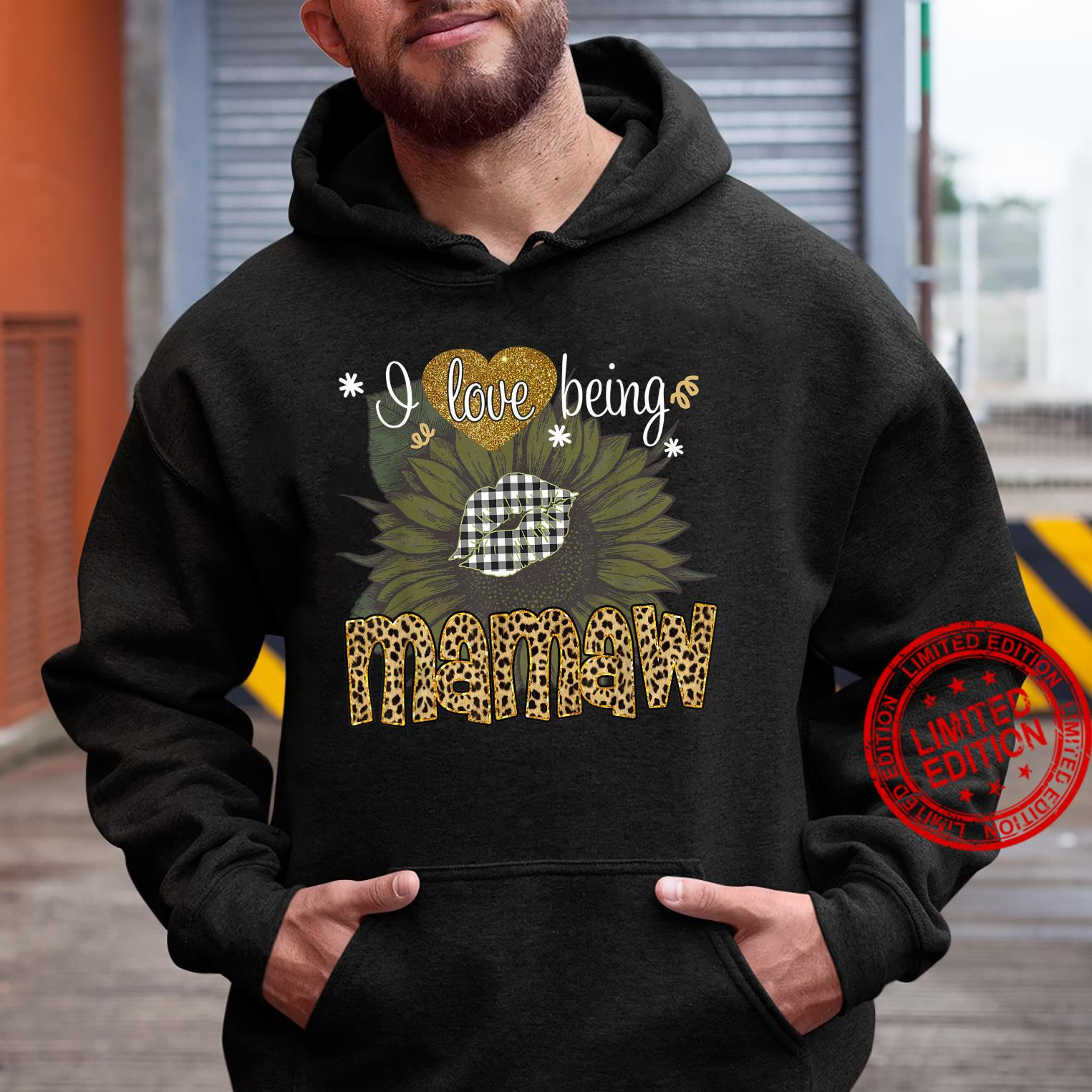I Love Being Mamaw Sunflower Leopard Mothers Day Shirt hoodie