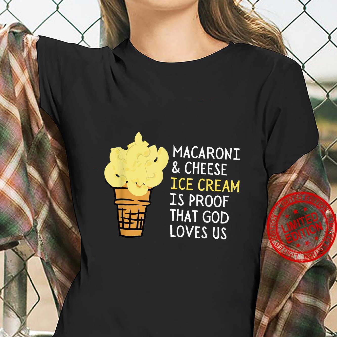 Macaroni and Cheese Ice Cream Mac & Cheese Shirt ladies tee