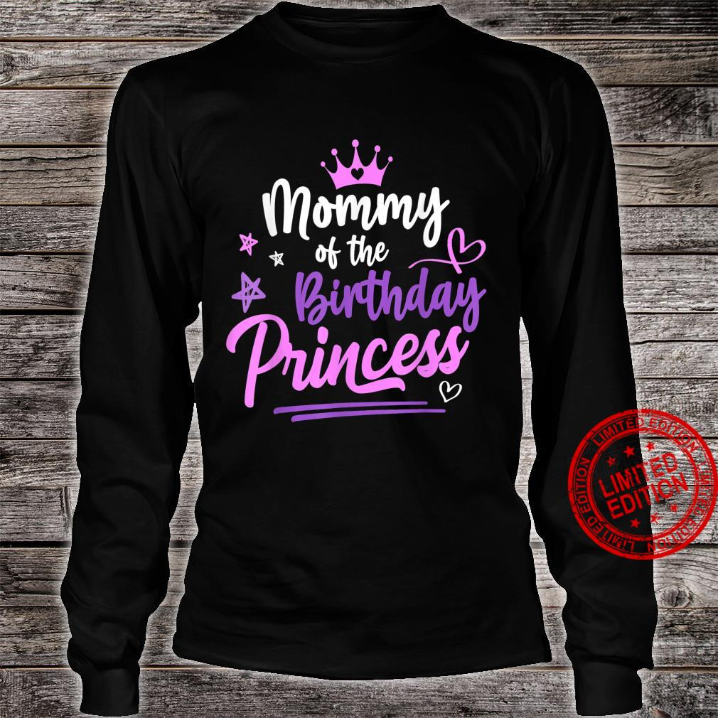 Mommy Of The Birthday Princess Birthday Family Matching Shirt long sleeved