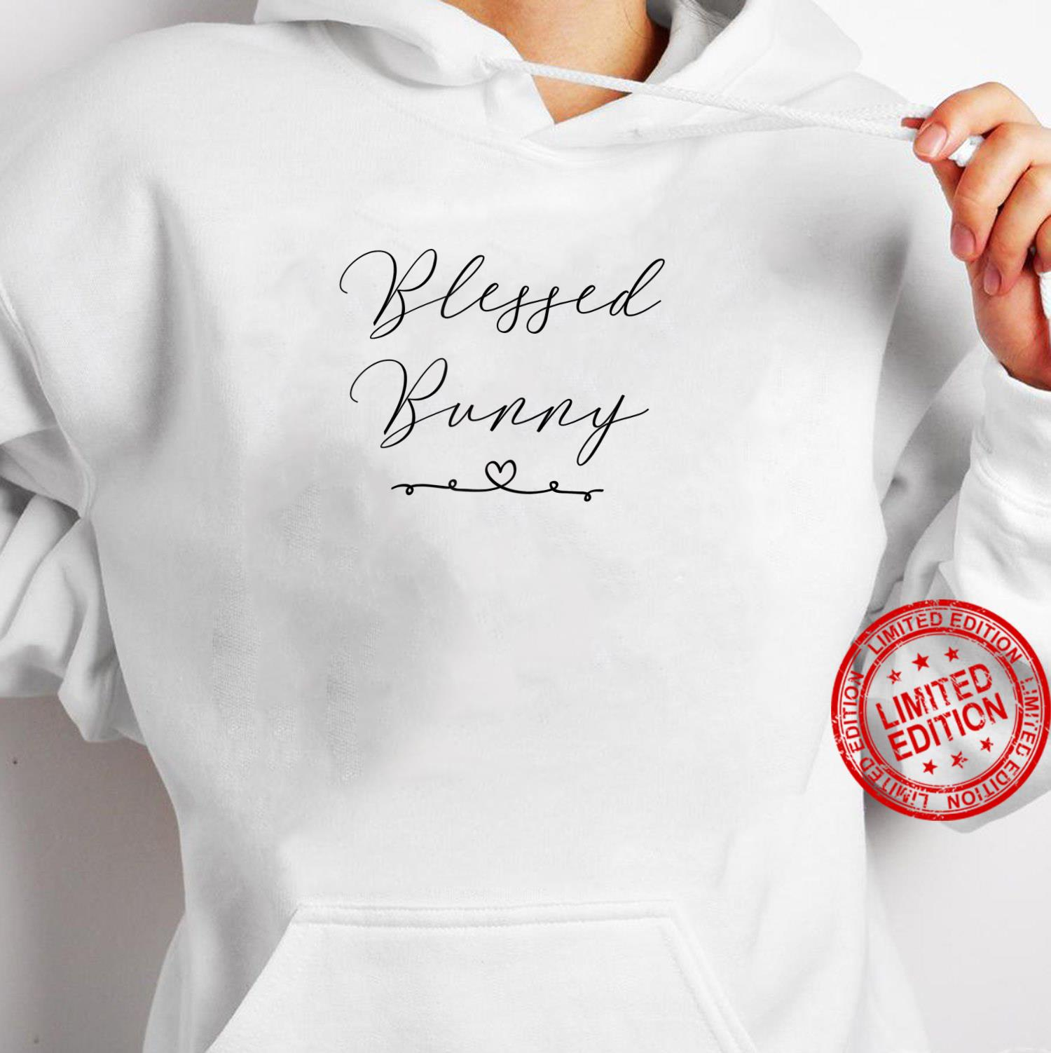 Womens Blessed Bunny Shirt hoodie