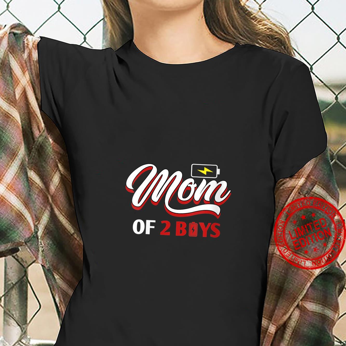 Womens Mom of 2 Boys from Son Mothers Day Shirt ladies tee