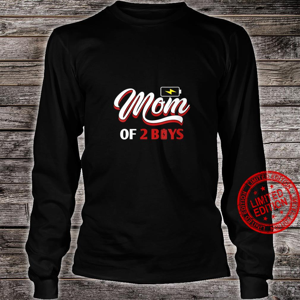 Womens Mom of 2 Boys from Son Mothers Day Shirt long sleeved
