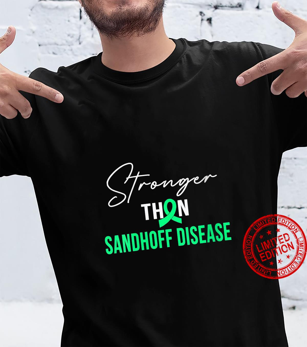 Womens Stronger SANDHOFF DISEASE Warrior Shirt
