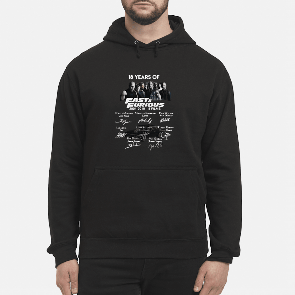 18 years of Fast and Furious Author Signatures shirt hoodie