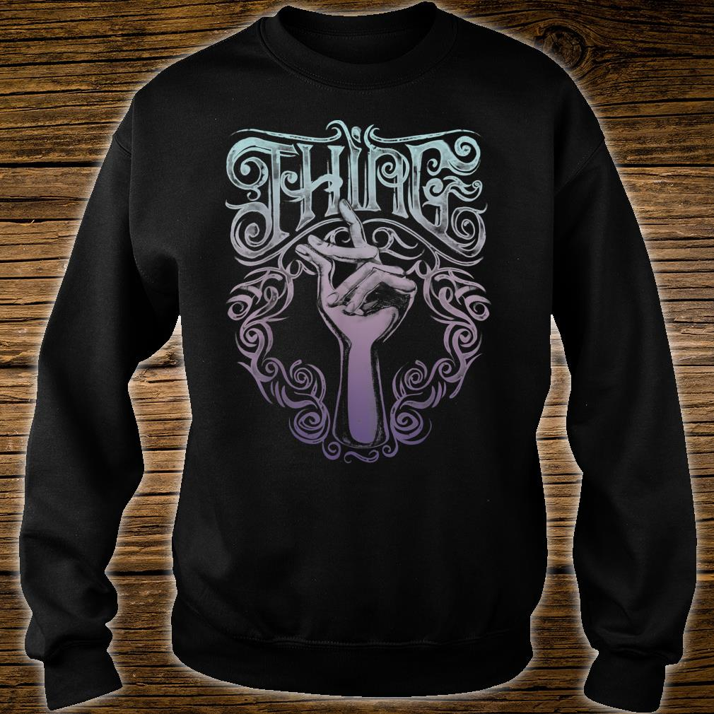 Addams Family Thing Artsy Gradient Sketch Shirt sweater