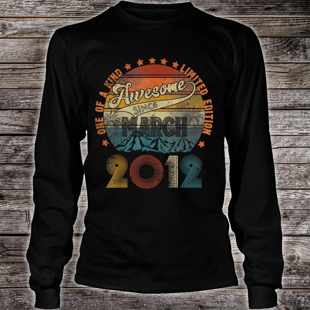 Classic 8th Birthday Vintage March 2012 Shirt long sleeved
