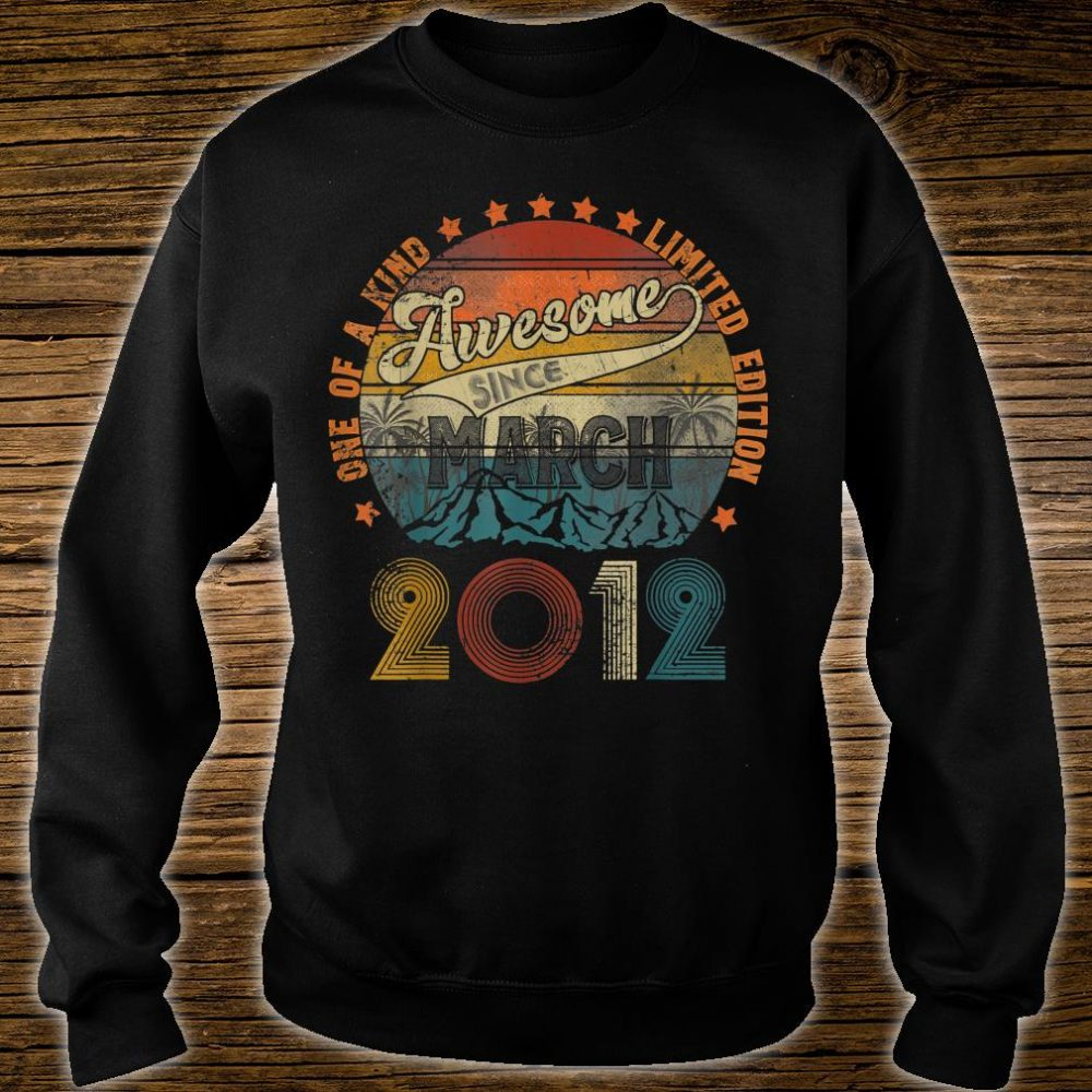 Classic 8th Birthday Vintage March 2012 Shirt sweater