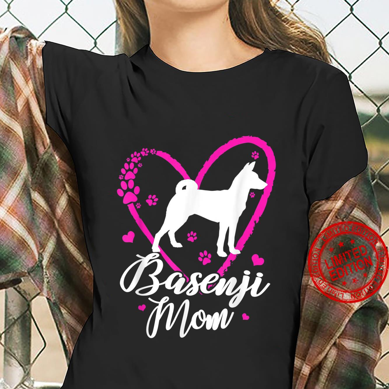 Cute Basenji Mom For Mother's Day Shirt ladies tee