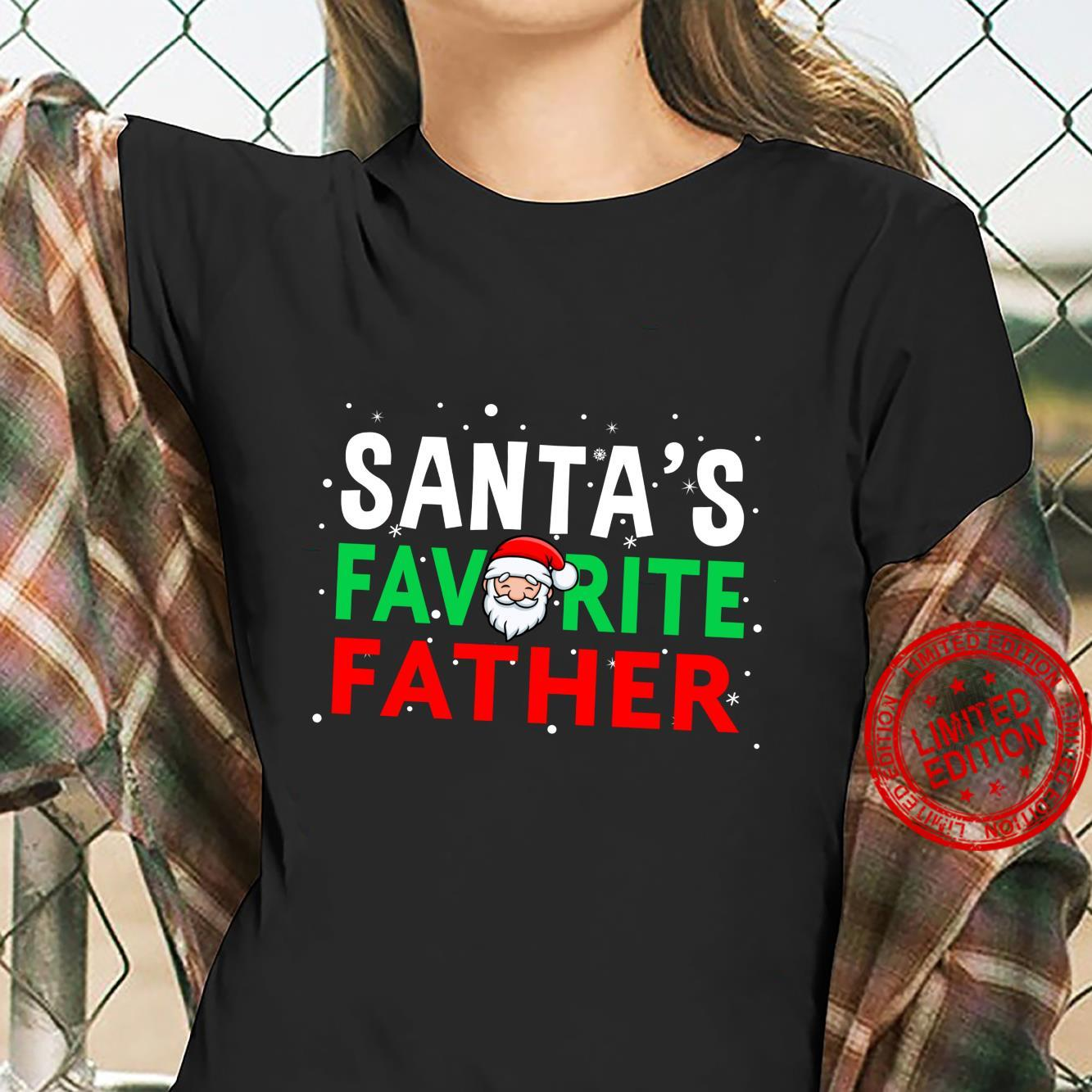 Dad Christmas Shirt Santa's Favorite Father Shirt ladies tee