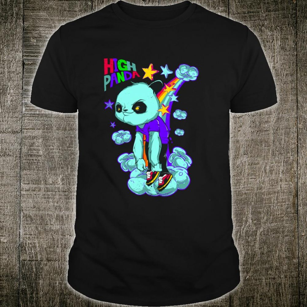 EDM Trippy High Panda Design Dance Rave Music Festival Shirt