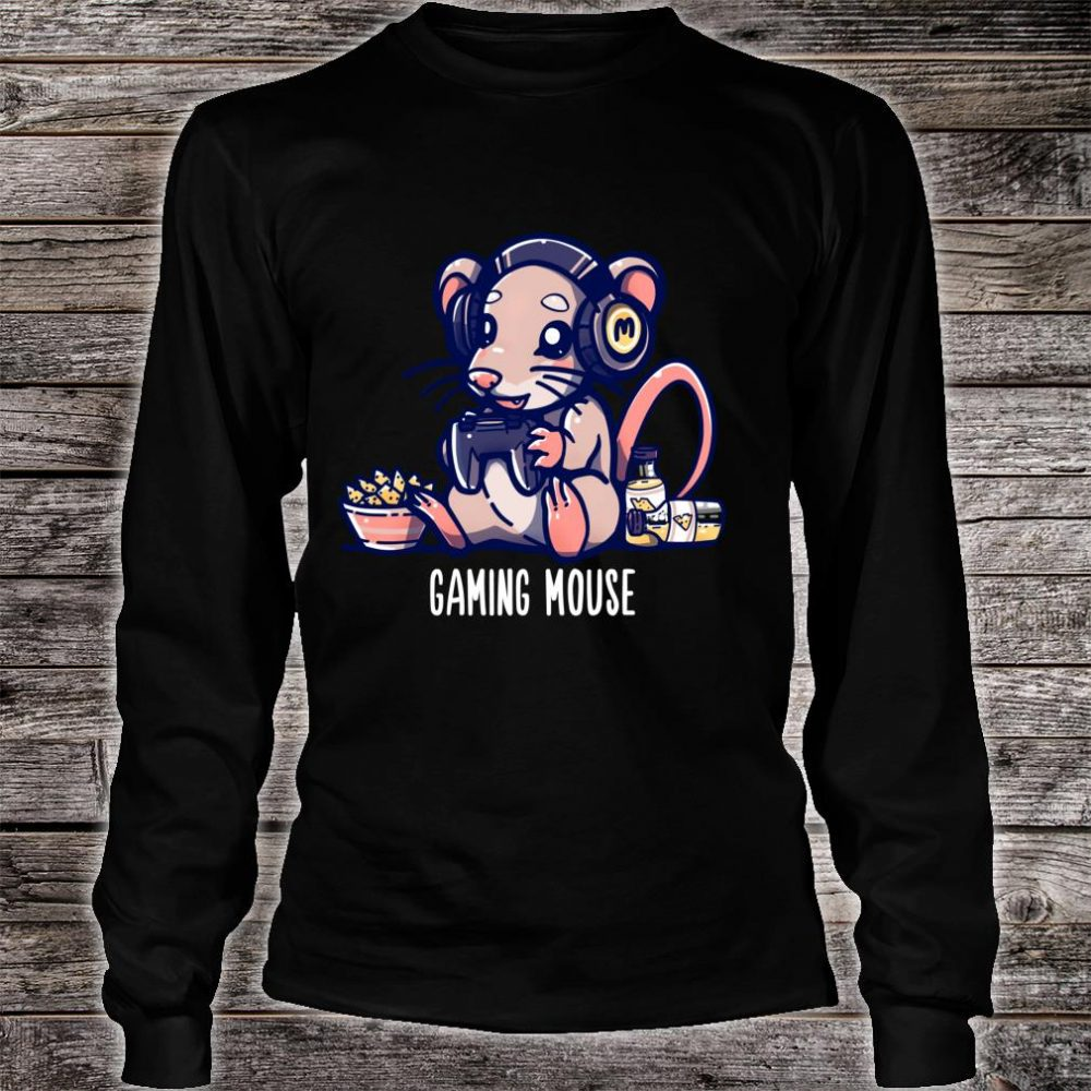 Gaming Mouse Cute Gaming Animal Pun Shirt long sleeved