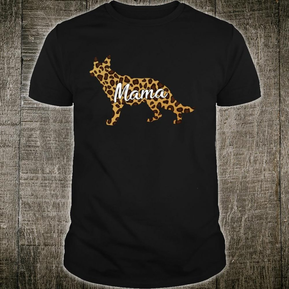 German Shepherd Pajamas Dog Mama Leopard Skin Outfits Shirt