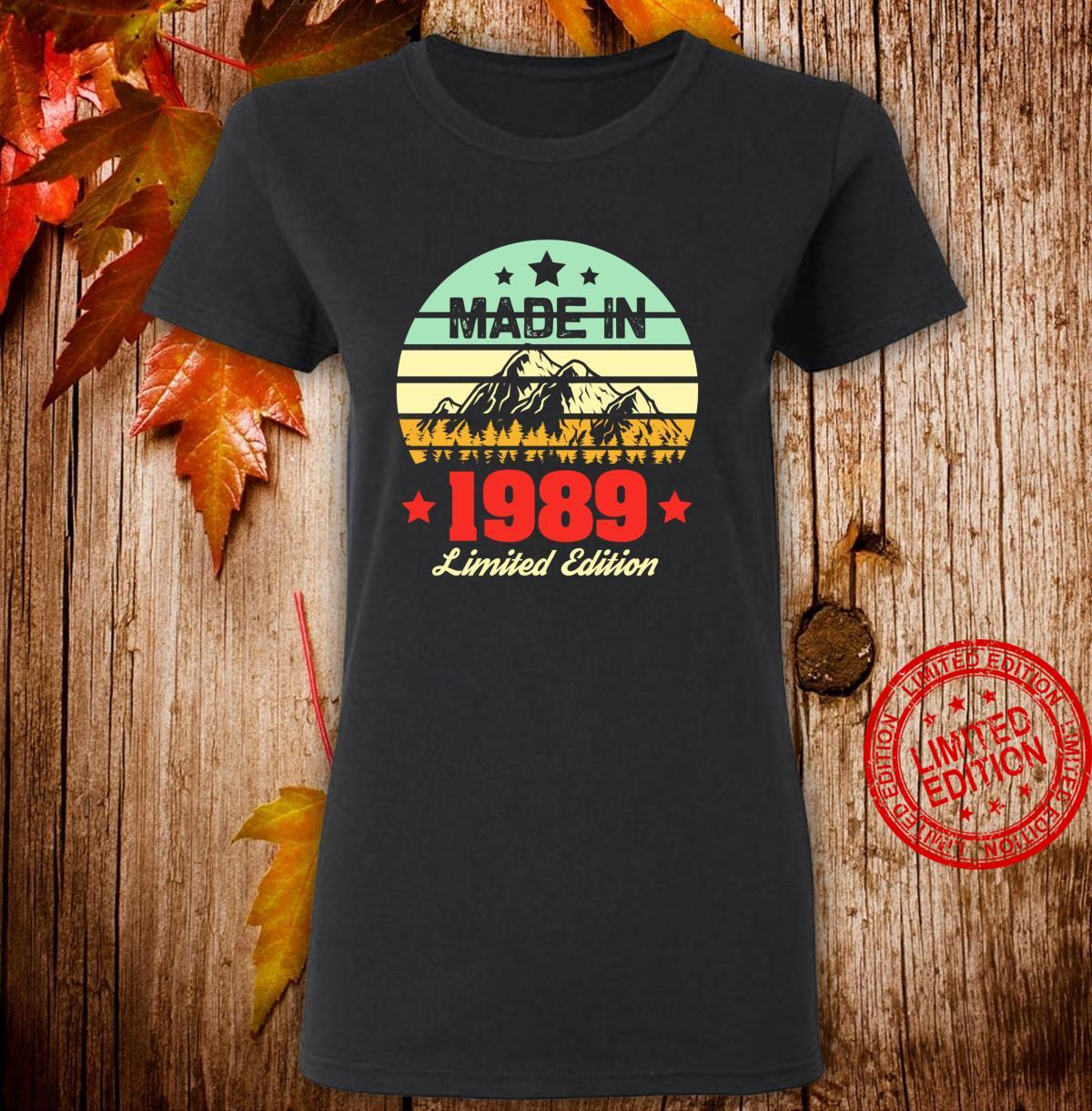 Gift for 31 Year Old Vintage Mountain 1989 31st Birthday Shirt ladies tee