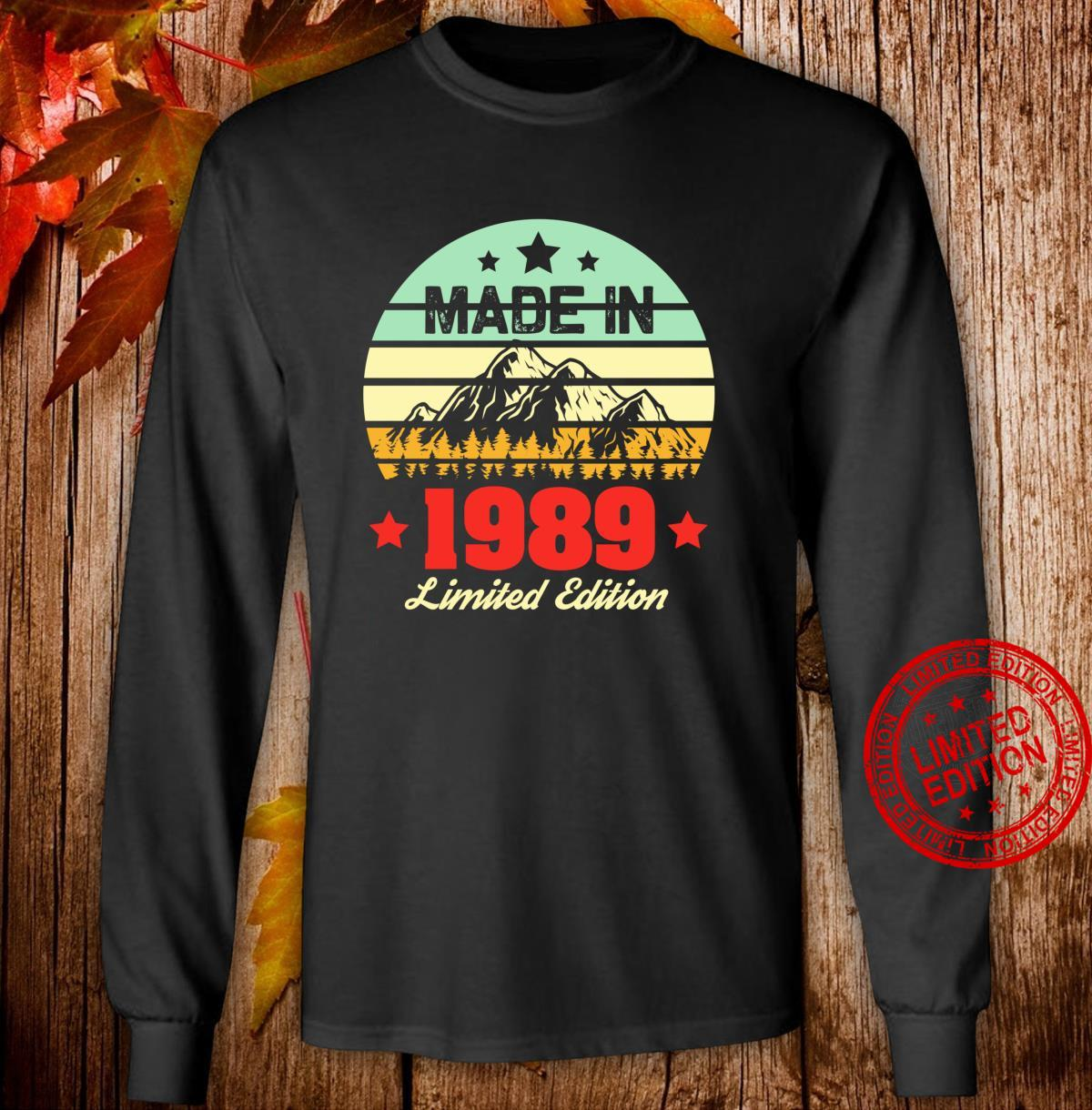 Gift for 31 Year Old Vintage Mountain 1989 31st Birthday Shirt long sleeved