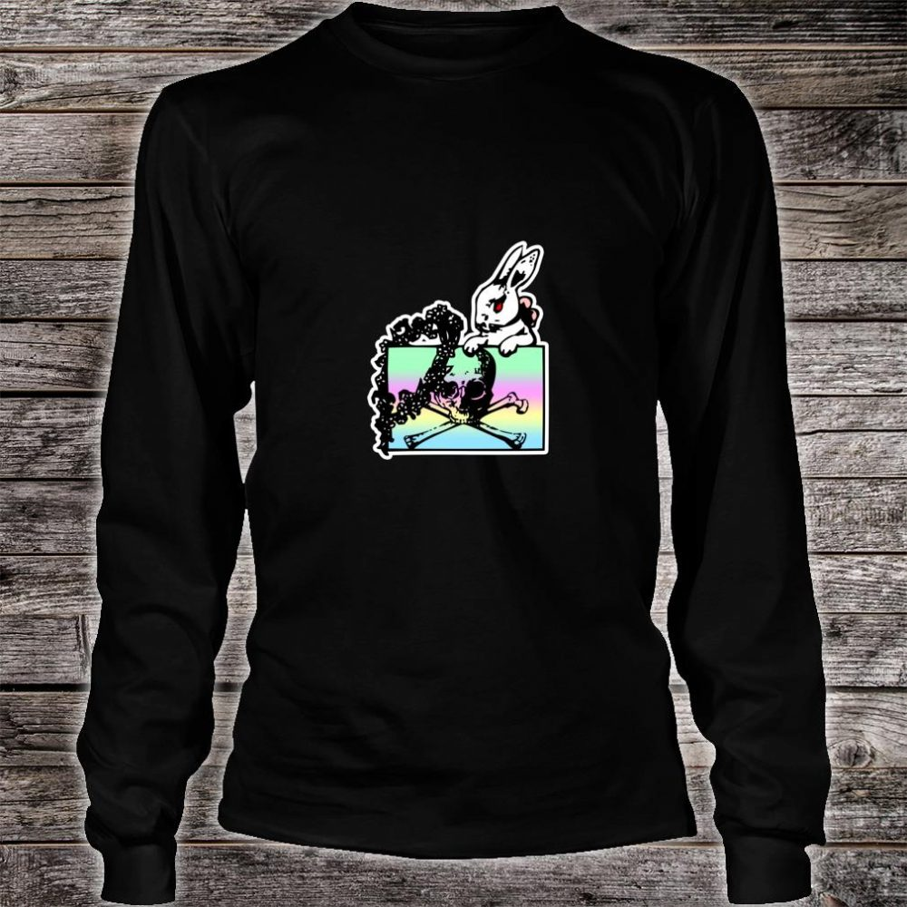 Goth Pastel Rabbit, Skull & Crossbones Shirt long sleeved