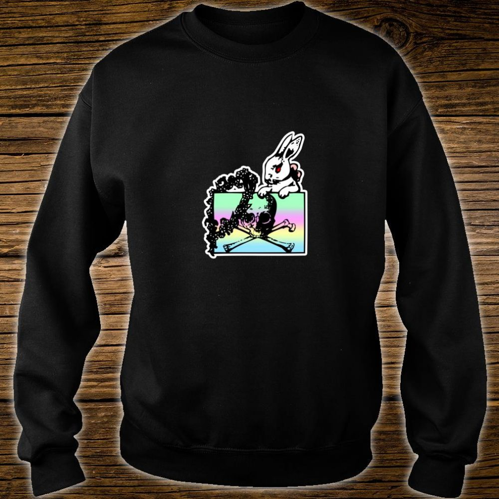 Goth Pastel Rabbit, Skull & Crossbones Shirt sweater