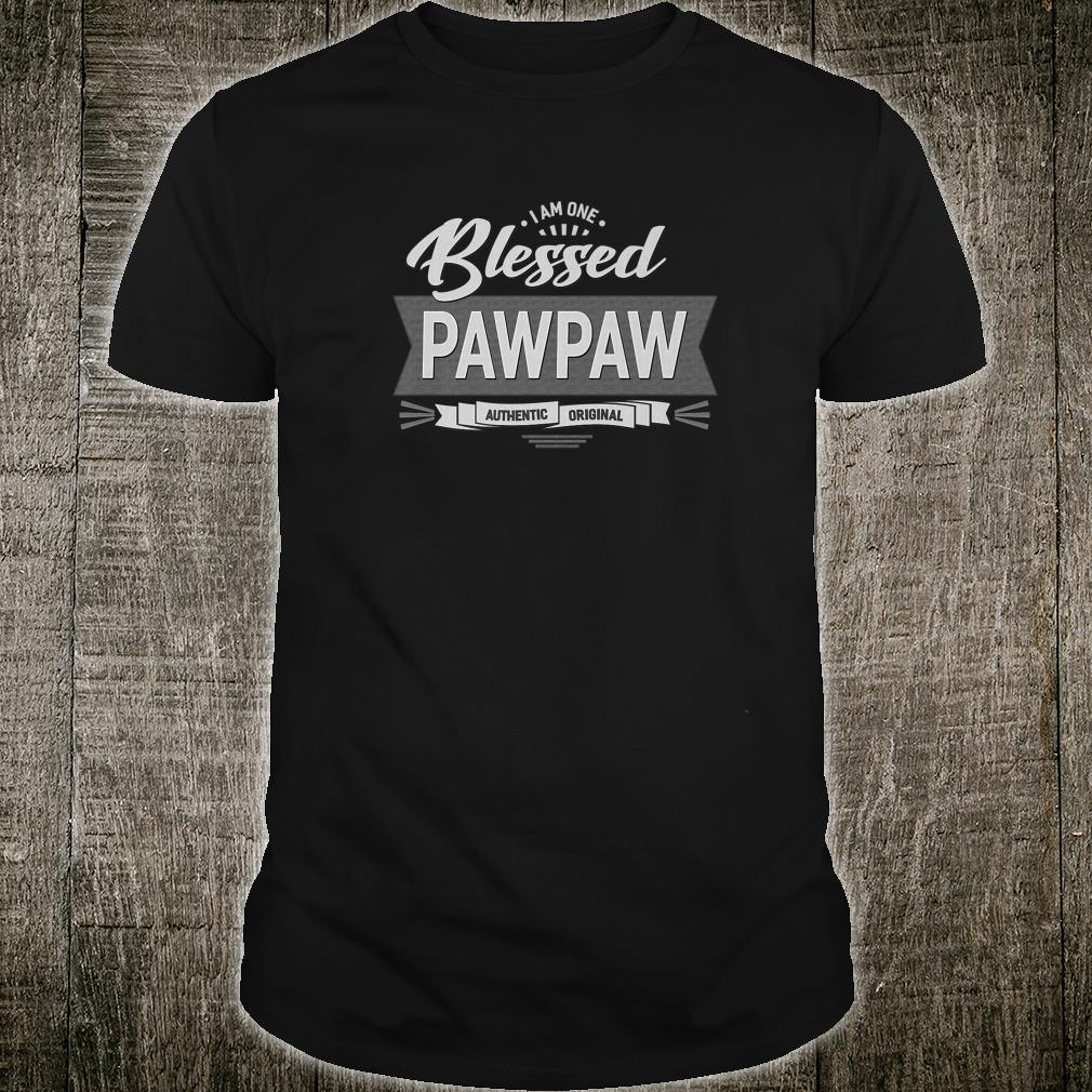 I Am One Blessed Pawpaw Grandpa Father's Day Gift Shirt