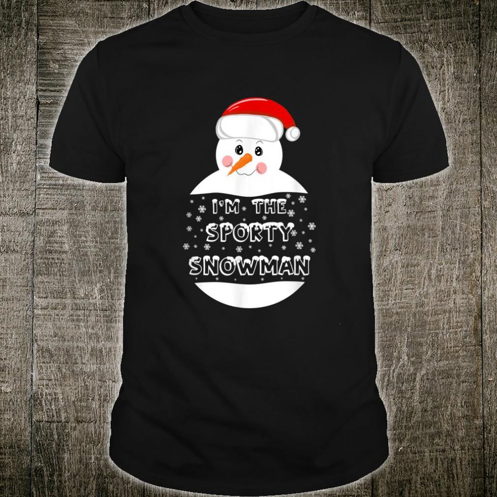 I'm the Sporty Snowman Family Matching Group Christmas Shirt