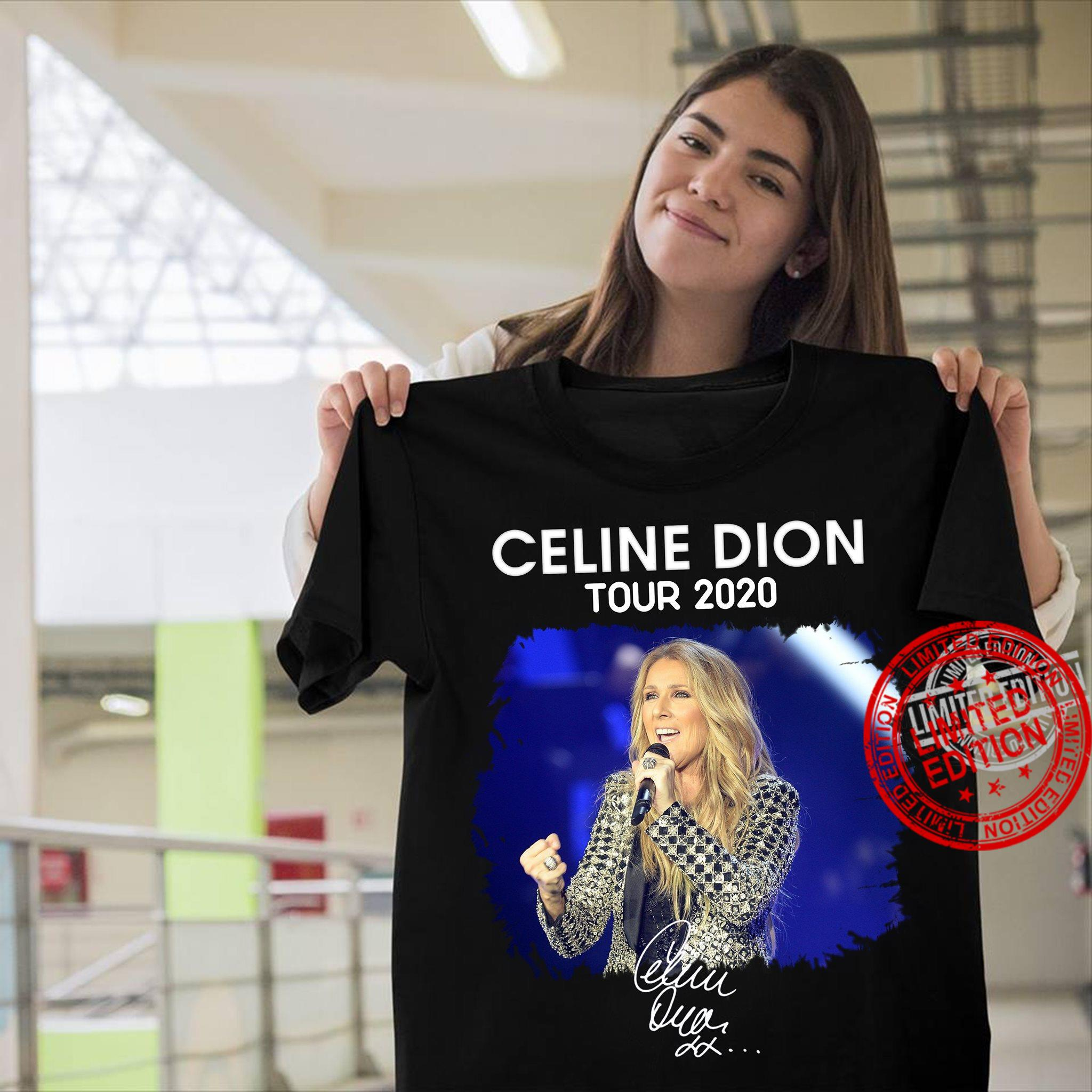 Image Of Celine Dion Tour 2020 Signature Shirt