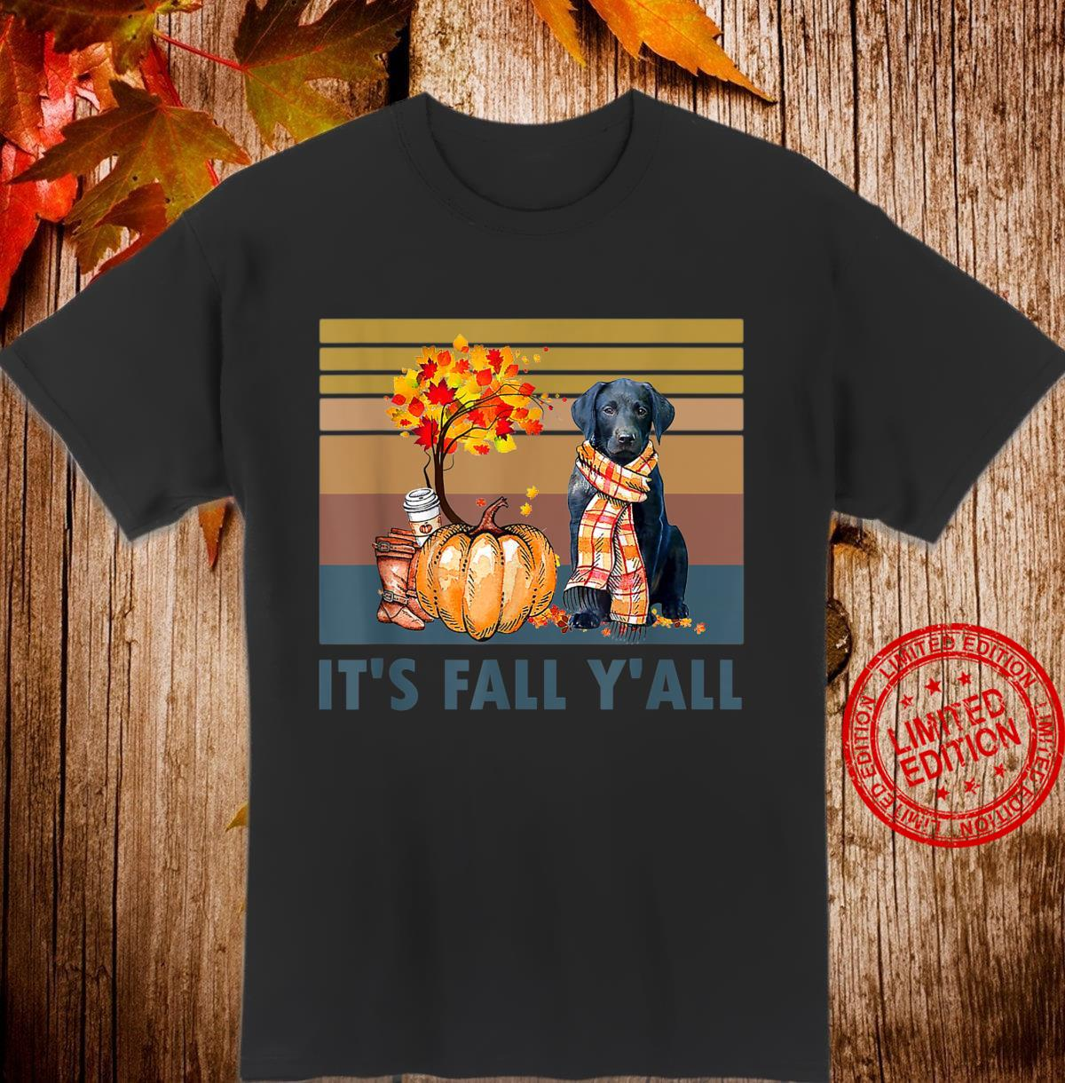It's Fall Y'all Labrador Retriever Vintage Halloween Shirt