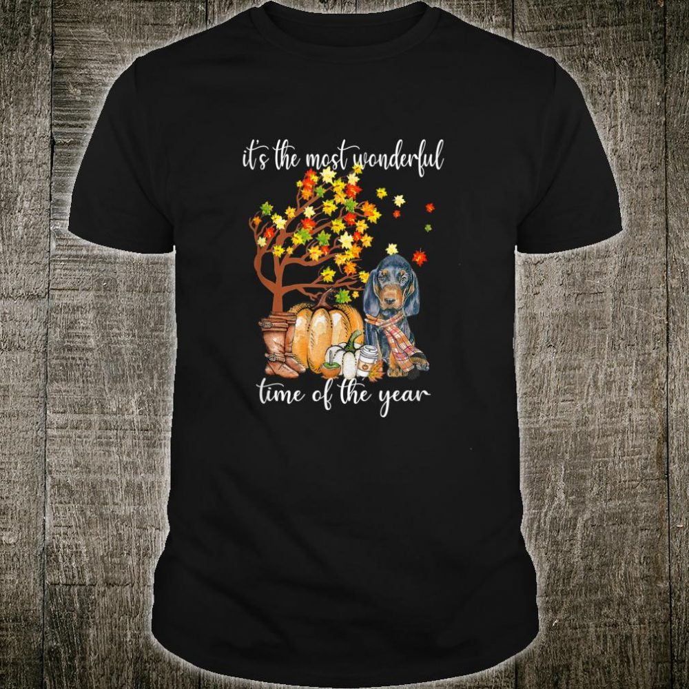 It's The Most Wonderful Time Black and Tan Coonhounds Shirt
