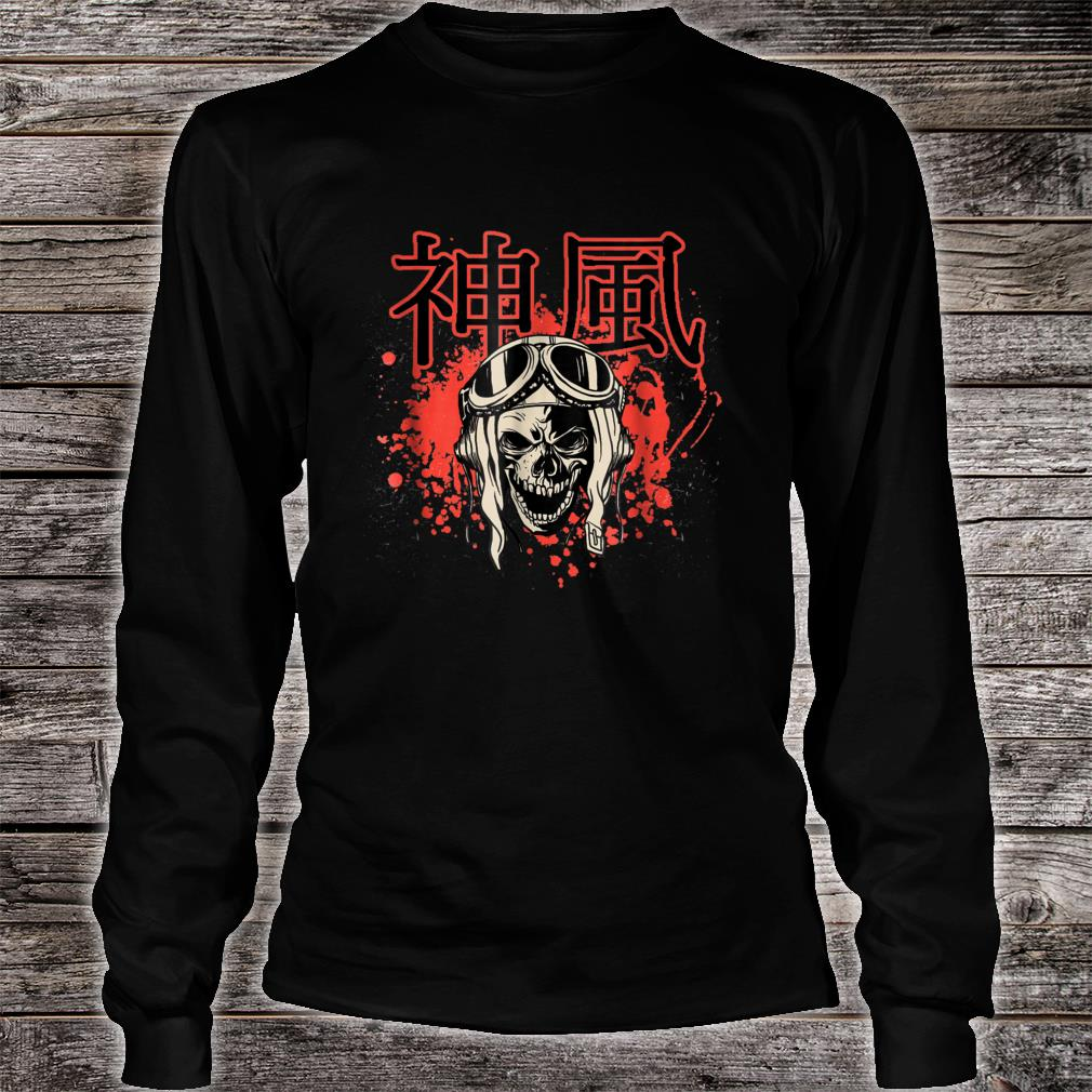 Japanese Kamikaze Pilot Skull Shirt long sleeved