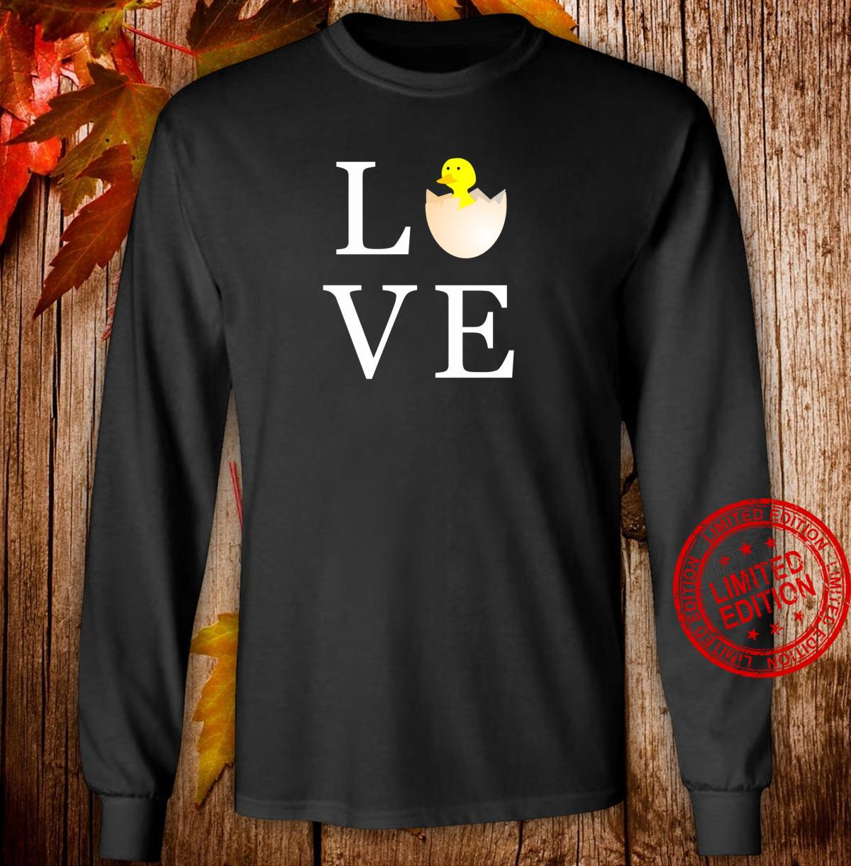 Love Easter Holiday Cute Chick Shirt long sleeved