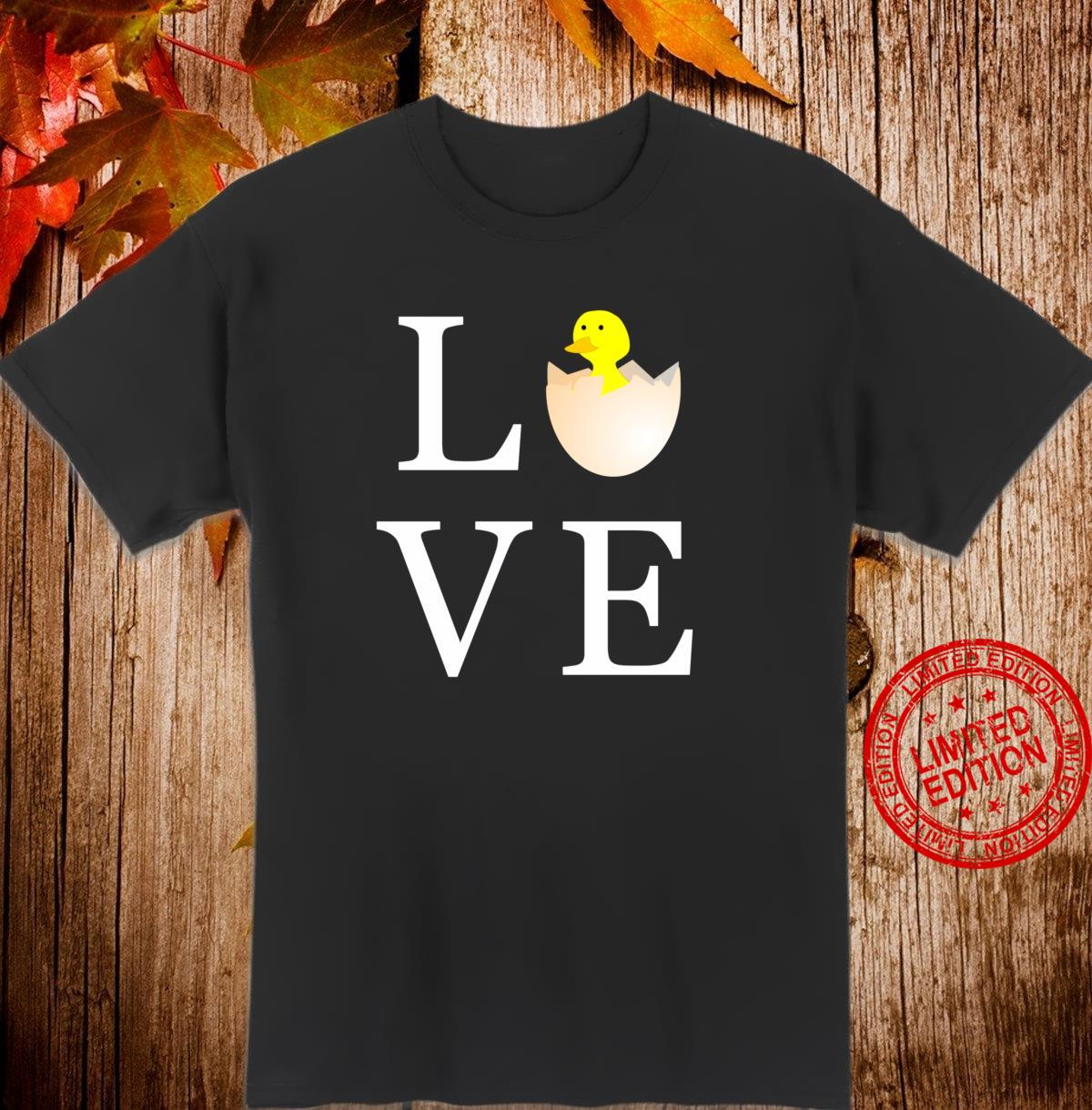 Love Easter Holiday Cute Chick Shirt