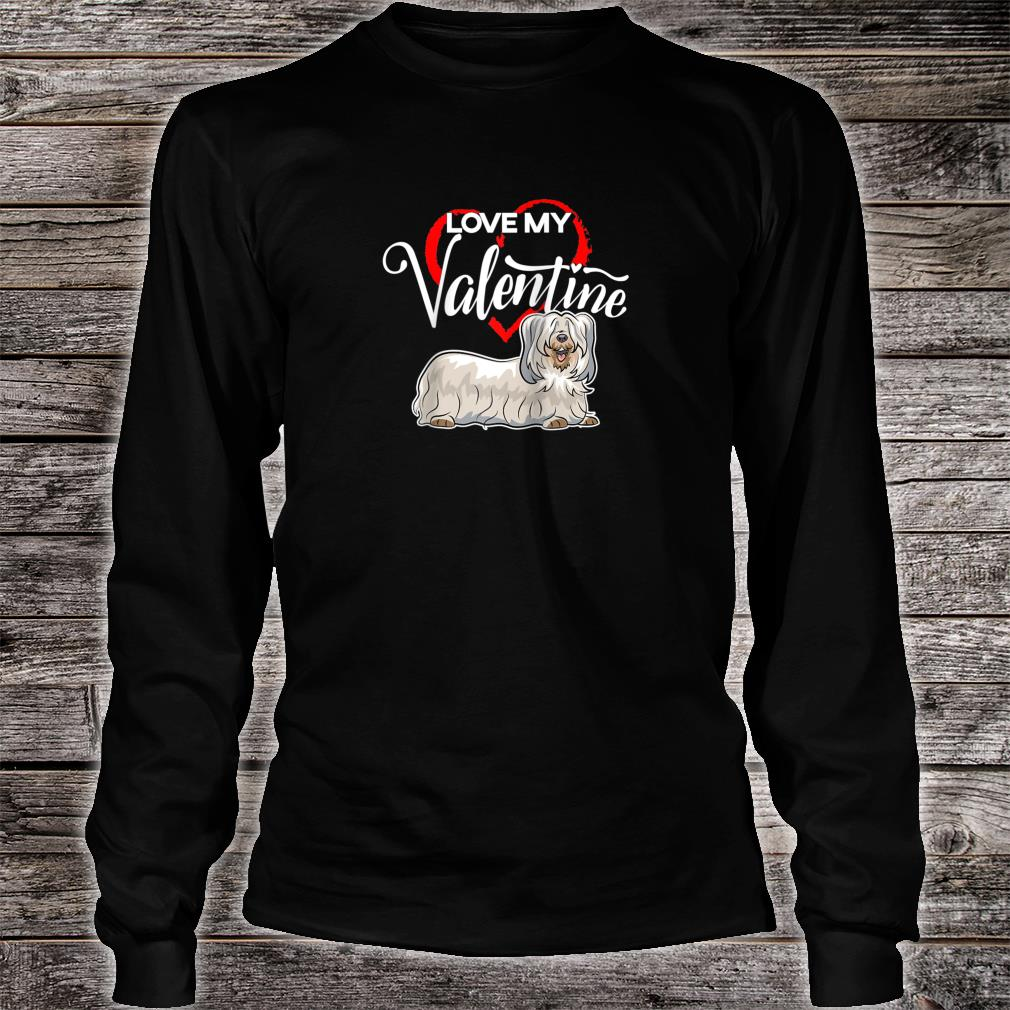 Love My Skye Terrier Dog Valentine's Day Shirt long sleeved