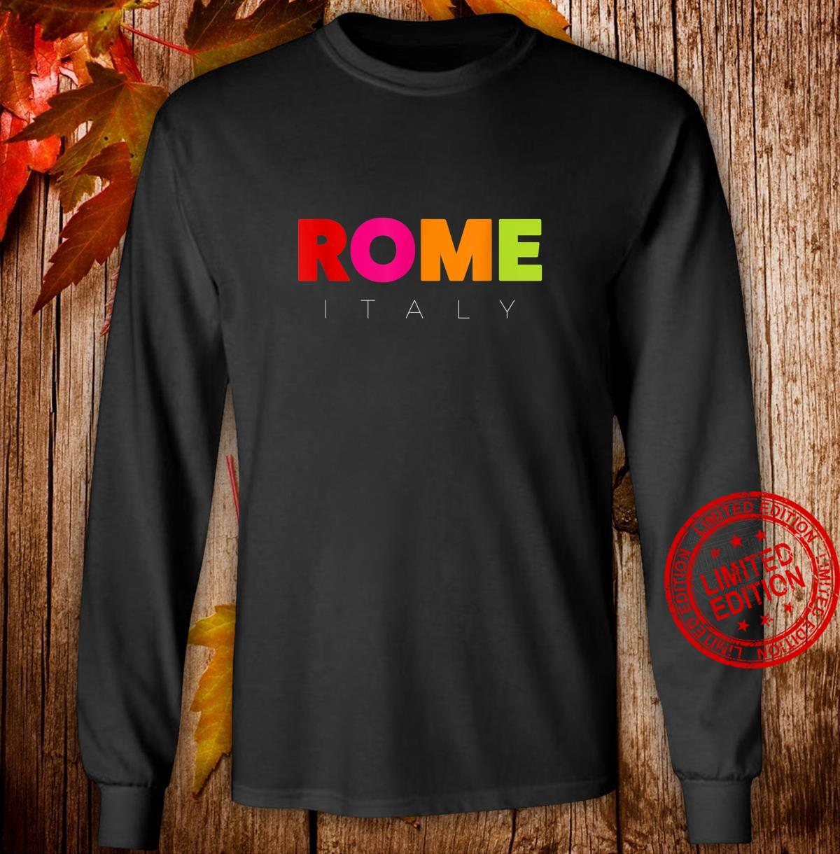 Men's's Colorful Rome Italy Design Shirt long sleeved