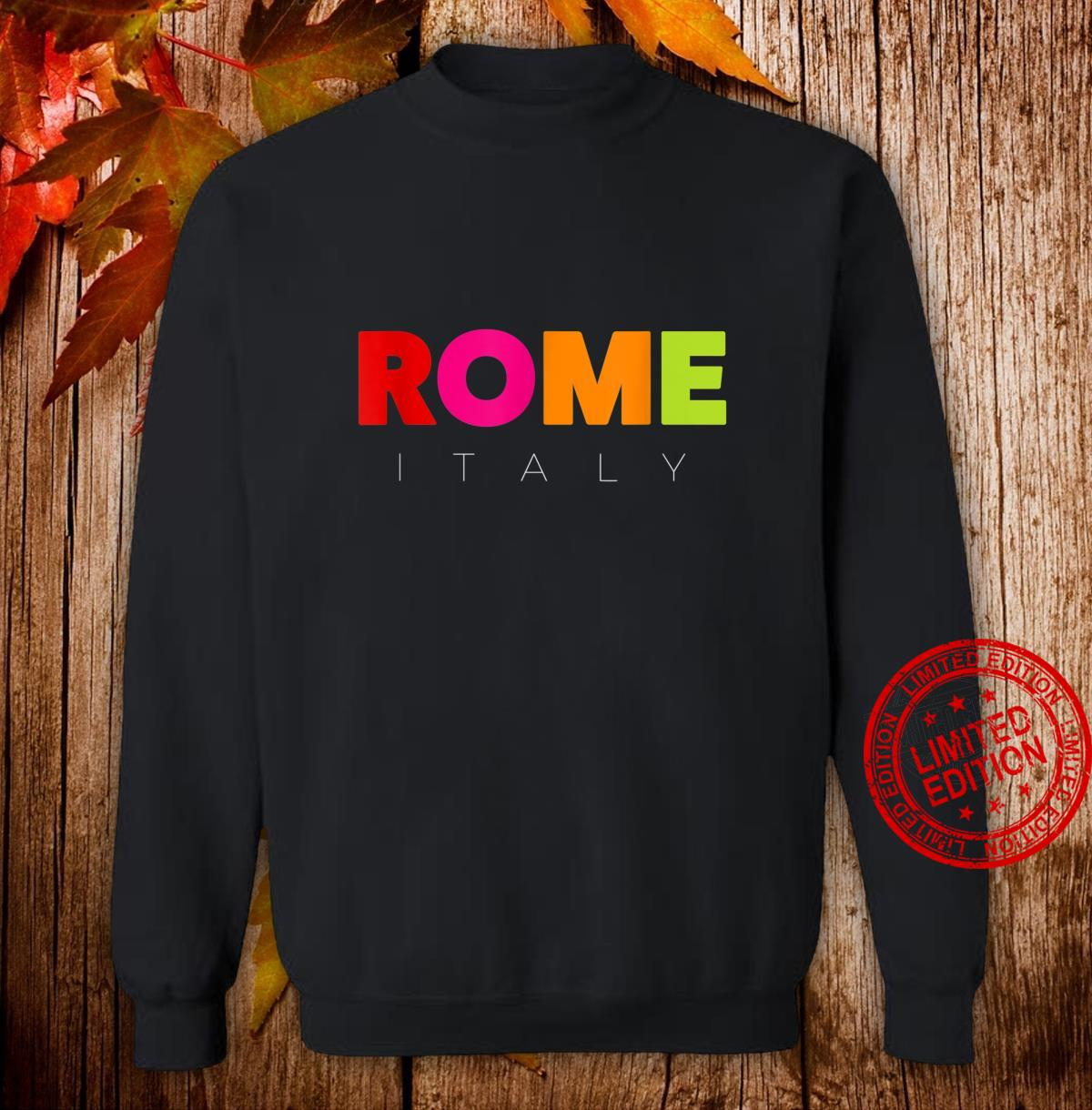 Men's's Colorful Rome Italy Design Shirt sweater