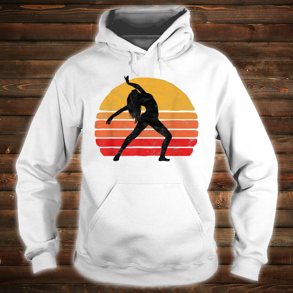 Modern Dancer Silhouette & Sun Vintage 80's Dance Graphic Shirt hoodie