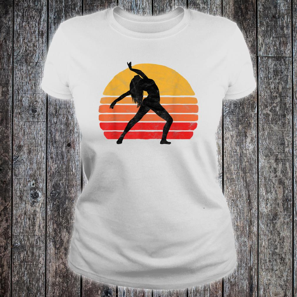 Modern Dancer Silhouette & Sun Vintage 80's Dance Graphic Shirt ladies tee