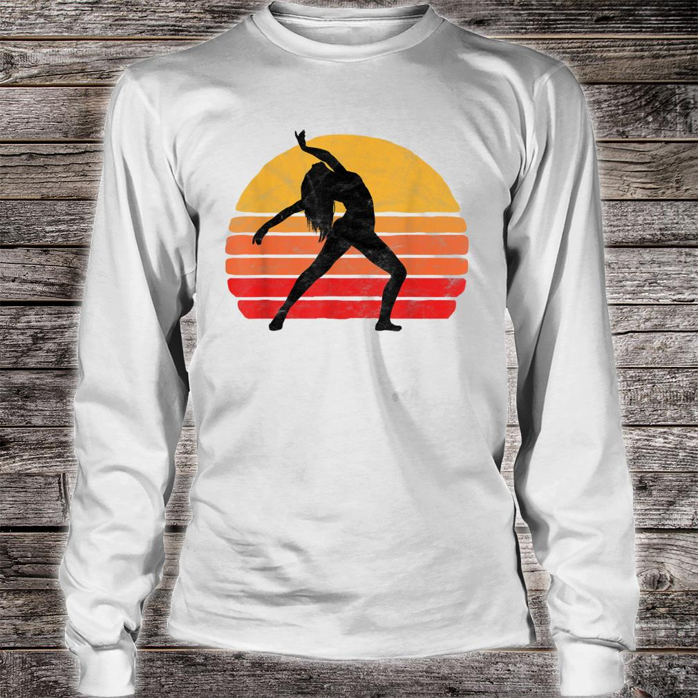 Modern Dancer Silhouette & Sun Vintage 80's Dance Graphic Shirt long sleeved