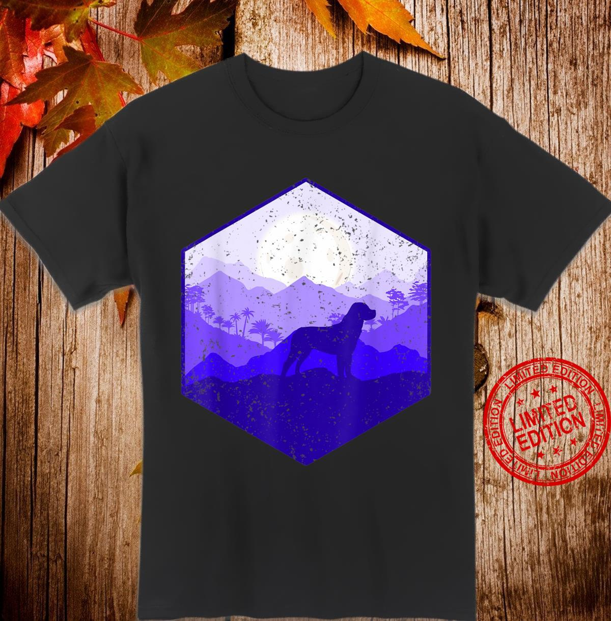 Mountains Moon Nature Rottweiler Shirt