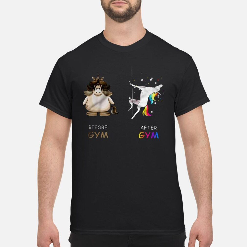 Pole Dance Unicorn Before Gym And After Gym Shirt