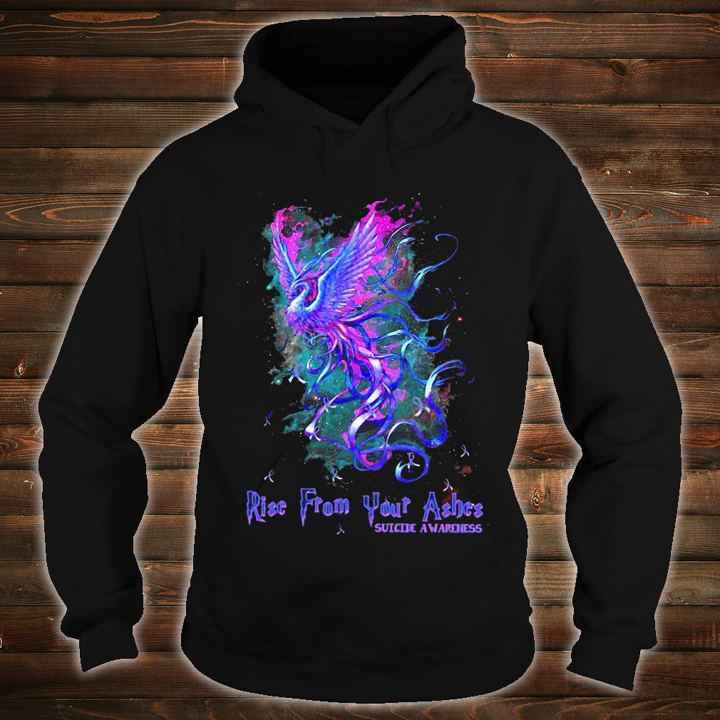 Suicide awareness Rise from your ashes shirt hoodie