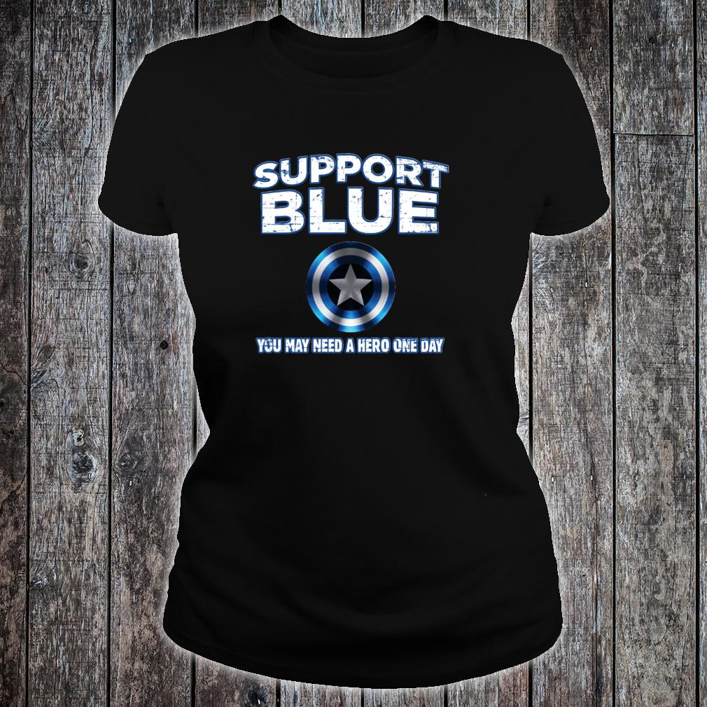Support Police Blue Shirt ladies tee