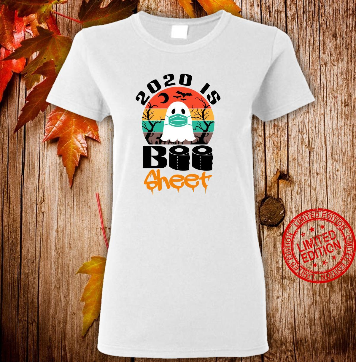 Vintage Halloween 2020 Is Boo Sheet for Family Shirt ladies tee