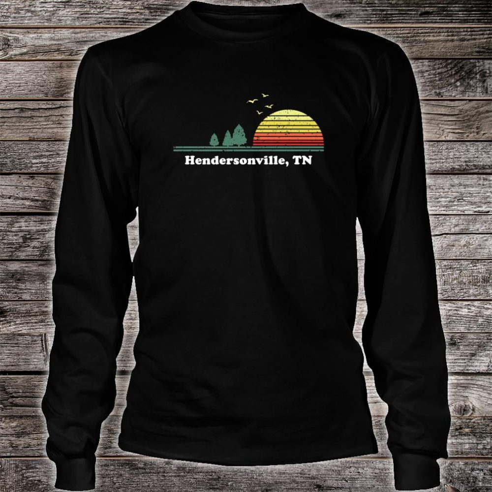 Vintage Hendersonville, Tennessee Home Souvenir Print Shirt long sleeved