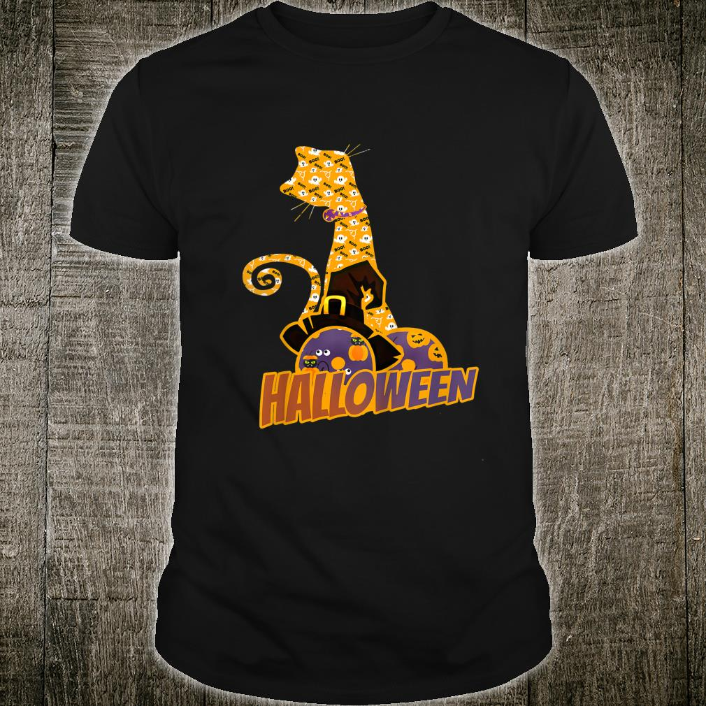 Witch Cat Donuts Halloween Shirt
