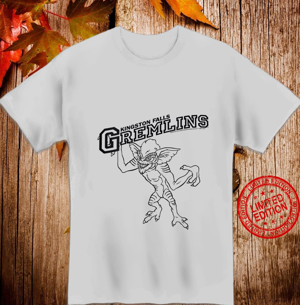 Womens Gremlins Kingston Falls Stripe Line Art Shirt