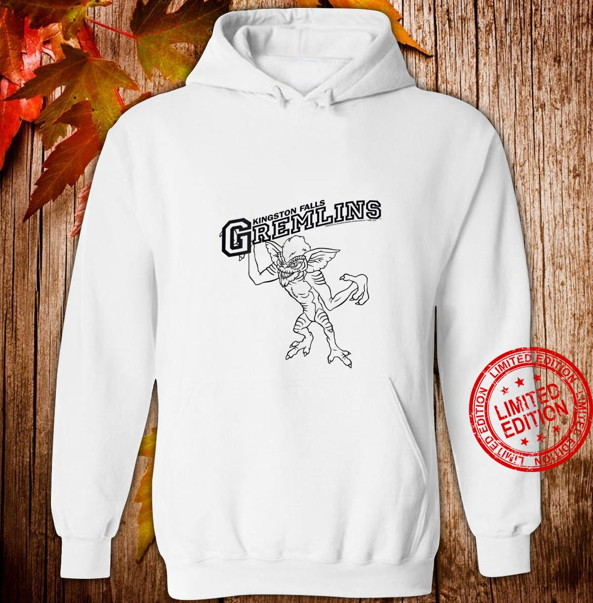 Womens Gremlins Kingston Falls Stripe Line Art Shirt hoodie