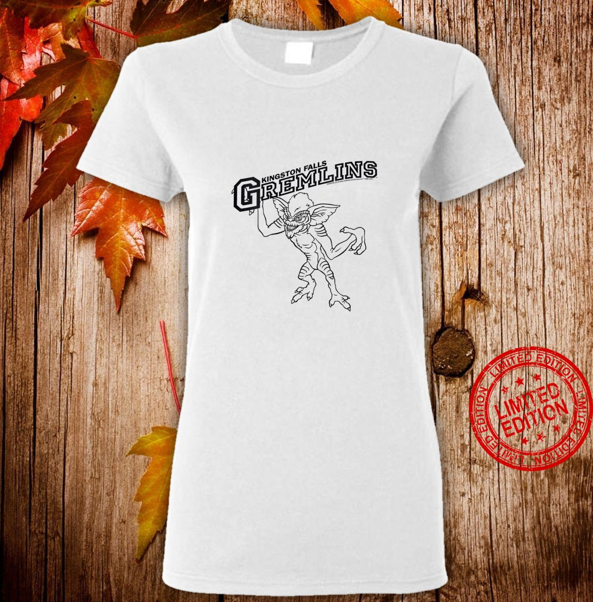 Womens Gremlins Kingston Falls Stripe Line Art Shirt ladies tee